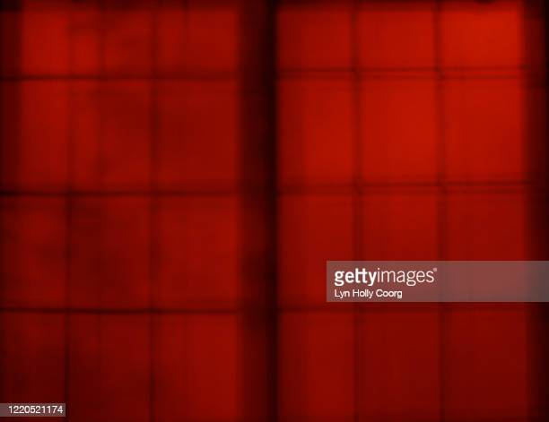 defocussed abstract red window blinds - lyn holly coorg stock pictures, royalty-free photos & images