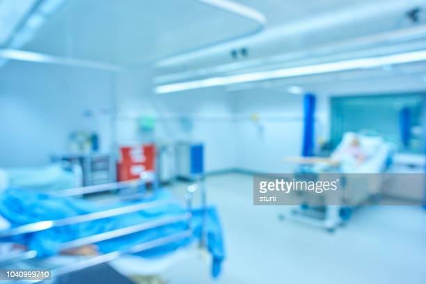 defocussed hospital ward