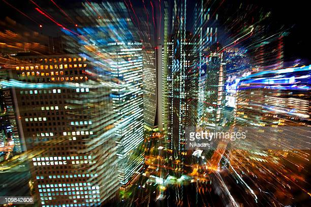 Defocussed Tokyo City Lights