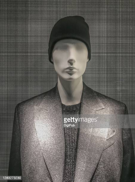 deformed male like mannequin in casual suit - 実物大 ストックフォトと画像