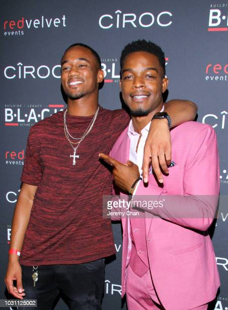 DeForrest and Stephan James attends Stephan James And Shamier Anderson Host Third Annual BLACK Ball at TIFF Bell Lightbox on September 10 2018 in...