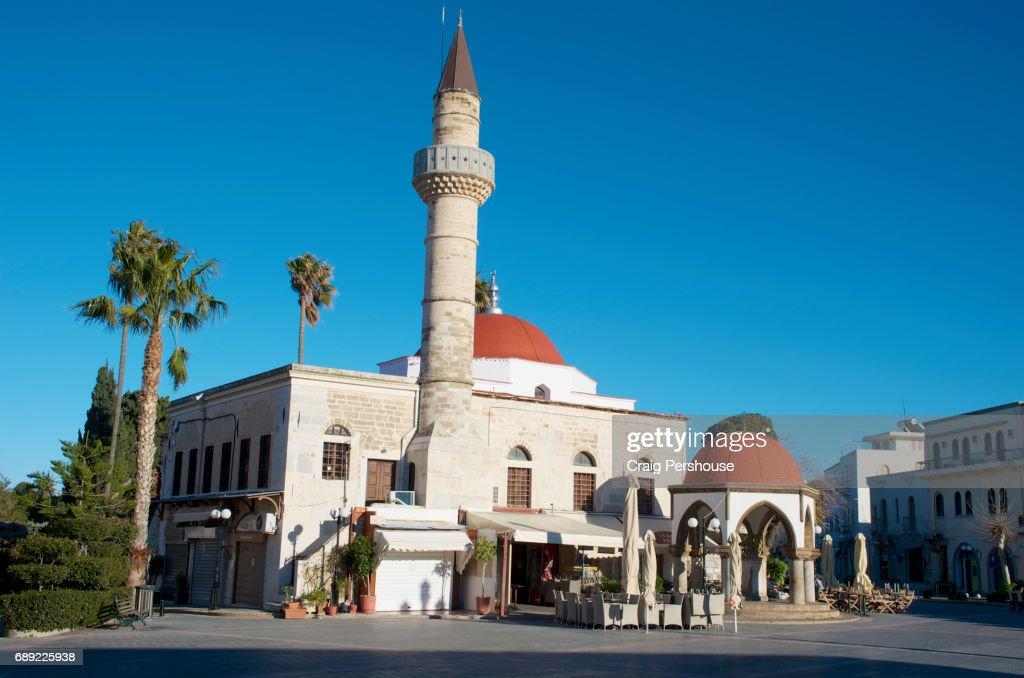 Defterdar Mosque, in Eleftherias Square. : Stock Photo