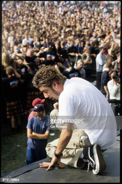 Deftones Chino Moreno performing on stage Pukkelpop Festival Hasselt Belgium 29th August 1998