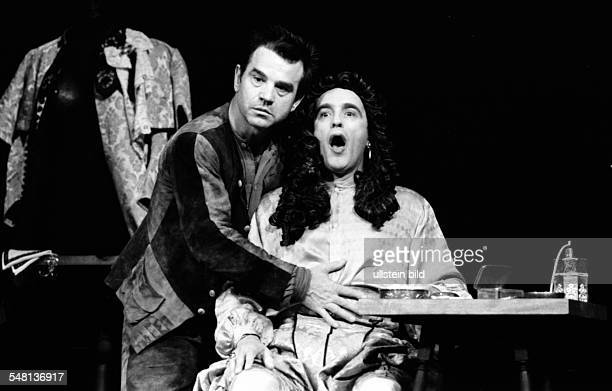 Degen Michael Actor Author Germany as Dom Juan with Hilmar Thate as Sganerelle at the Salzburg Festival directed by Ingmar Bergman