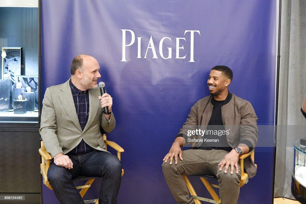 Degen Pener and Michael B. Jordan attend Piaget Celebrates Brand Ambassador Michael B. Jordan In Support Of Lupus LA at Piaget on October 5, 2017 in Beverly Hills, California.