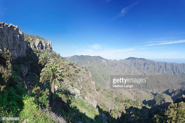 Degollada de Pereza y San Sebastian viewing point, Garajonay Parque National, near San Sebastian, La Gomera, Canary Islands, Spain, Europe