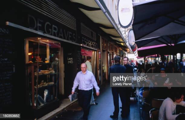 Degraves Street cafes.