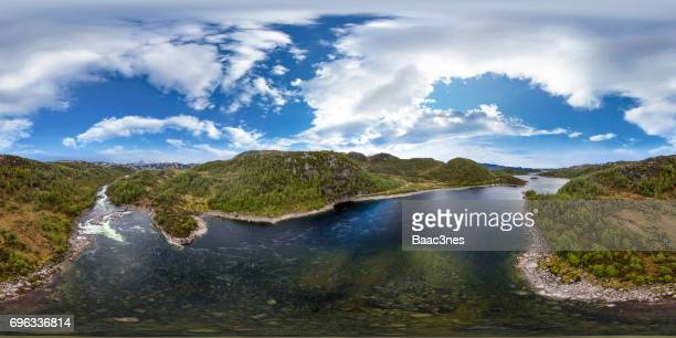 360 degree aerial view from Sirdal, Norway