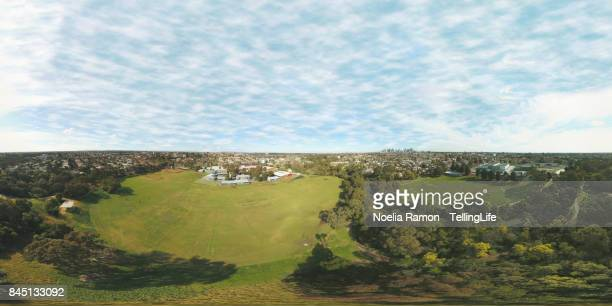 360 Degree aerial view of Melbourne and northern suburbs