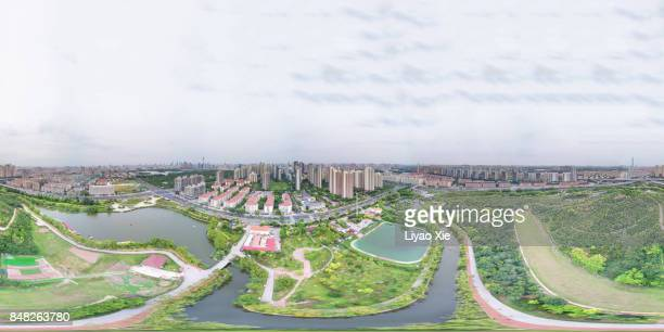 360 degree aerial view of tianjin - liyao xie stock pictures, royalty-free photos & images