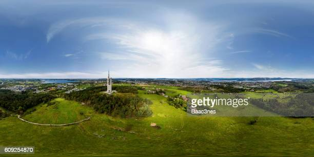 360 degree aerial view of Ullandhaug in Stavanger, Norway