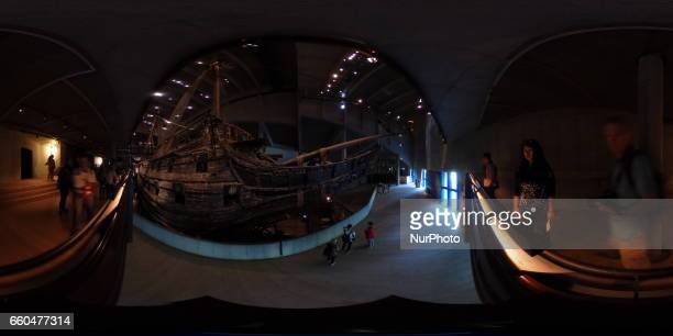 Degree general view shows the royal warship 'Vasa' in Stockholm, on September 10, 2016. The Vasa is the world's only complete surviving ship from the...