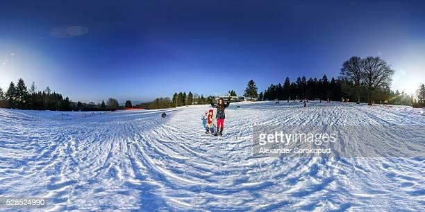 360 degree panoramic view. Ski resort in France.