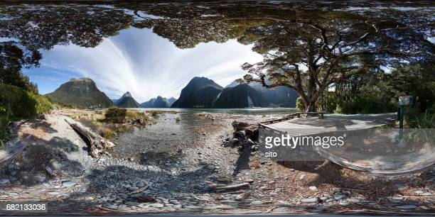 360 degree view at Milford Sound, Fiordland, New Zealand