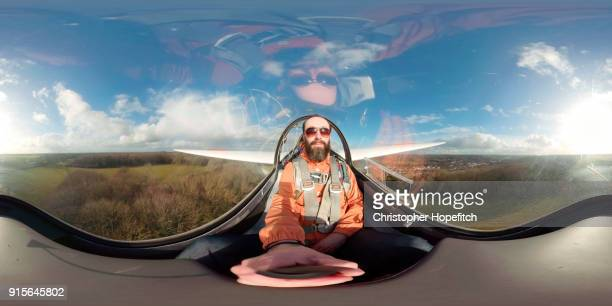 360 degree view from the cockpit of a glider