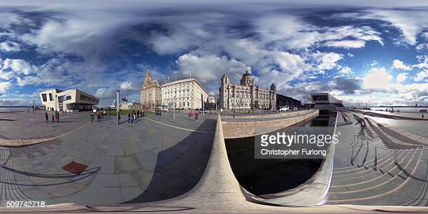 A 360 degree view of Liverpool Waterfront on February 11 2016 in Liverpool England New research commissioned by Liverpool City Council has shown that...