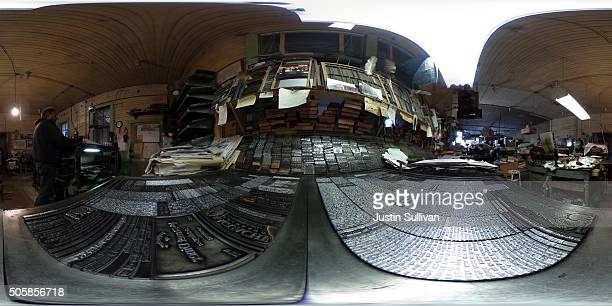 A 360 degree view of the interior of the Saguache Crescent newspaper on January 19 2016 in Saguache Colorado The Saguache Crescent newspaper is the...