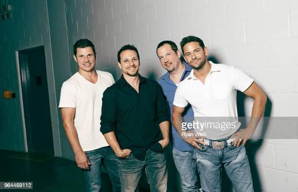 98 Degrees are photographed on July 1 2013 in Vancouver British Columbia
