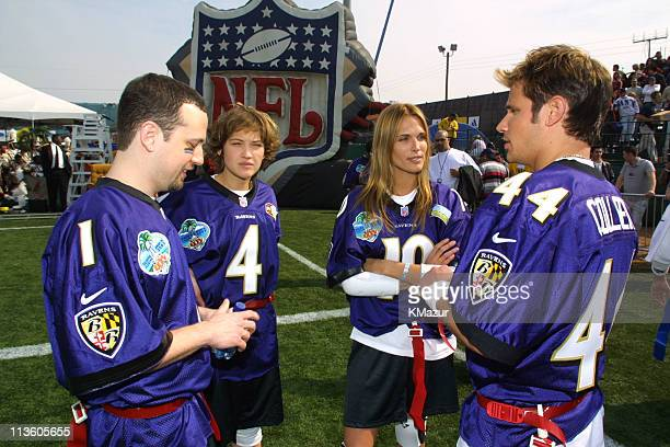 98 Degrees Colleen Haskell and Molly Sims during Super Bowl XXXV MTV Rock 'N Jock at Raymond James Stadium in Tampa Florida United States