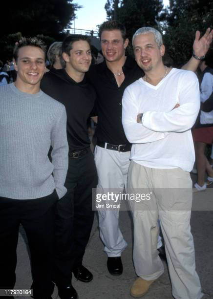 98 Degrees Drew Lachey Jeff Timmons Nick Lachey and Justin Jeffre