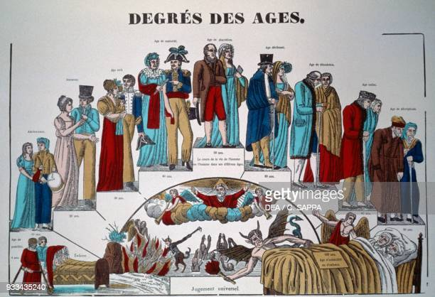 Degrees of ages Epinal print