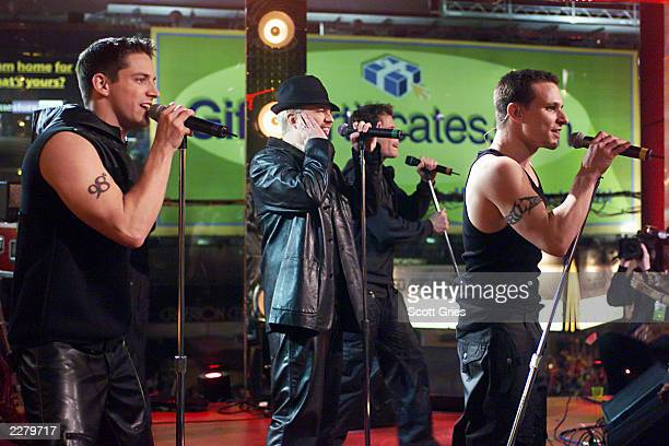 98 Degrees performing on 'MTV 2 Large' on New Year's Eve in MTV's Times Square studios 12/31/99