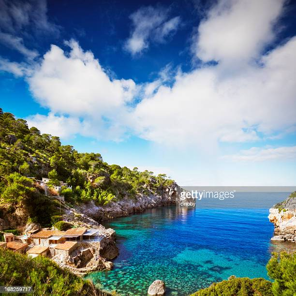 cala de deia - majorca - majorca stock pictures, royalty-free photos & images