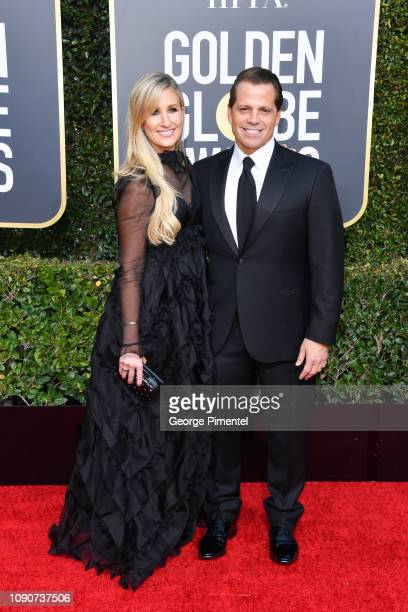 Deidre Ball and Anthony Scaramucci attend the 76th Annual Golden Globe Awards held at The Beverly Hilton Hotel on January 06 2019 in Beverly Hills...