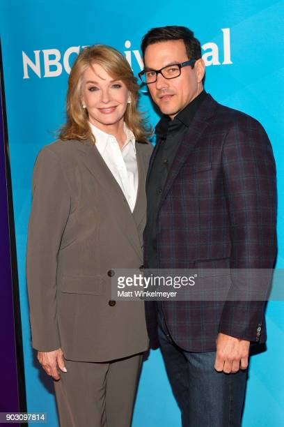 Deidre Hall and Tyler Christopher attend the 2018 NBCUniversal Winter Press Tour at The Langham Huntington Pasadena on January 9 2018 in Pasadena...