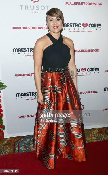 Deidre Pujols attends the Maestro Cares Foundation's Fourth Annual Changing Lives/Building Dreams Gala at Cipriani Wall Street on March 21 2017 in...