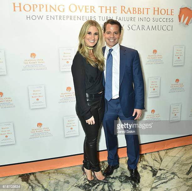 Deidre Scaramucci and Anthony Scaramucci attend 'Hopping Over the Rabbit Hole' Anthony Scaramucci Book Party on October 27 2016 in New York City