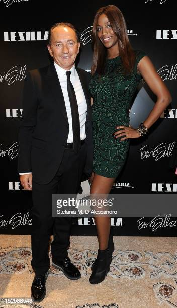 Deigner Ennio Silla and Ainett Stephens attend Le Silla Press Day as part of Milan Fashion Week Womenswear S/S 2013 on September 22 2012 in Milan...