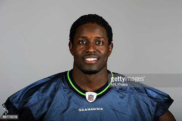 Deion Branch of the Seattle Seahawks poses for his 2009 NFL headshot at photo day in Seattle Washington
