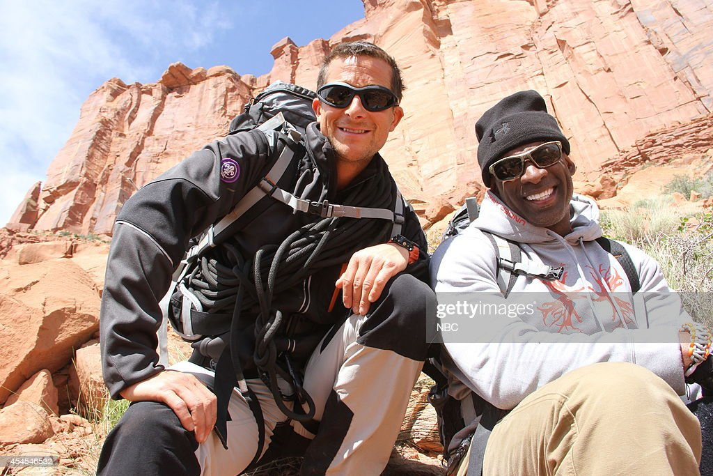 GRYLLS -- 'Deion Sanders' Episode 101 -- Pictured: (l-r) Bear Grylls, Deion Sanders --