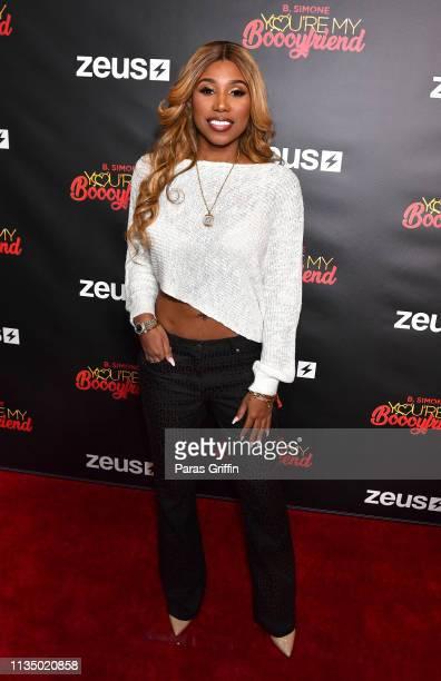 "Deiondra Sanders attends Zeus Network presents ""You're My Boooyfriend"" Atlanta screening at Regal Atlantic Station on March 10, 2019 in Atlanta,..."