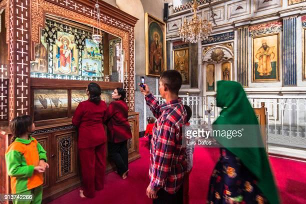 deir al-muharraq coptic monastery - minya egypt stock pictures, royalty-free photos & images