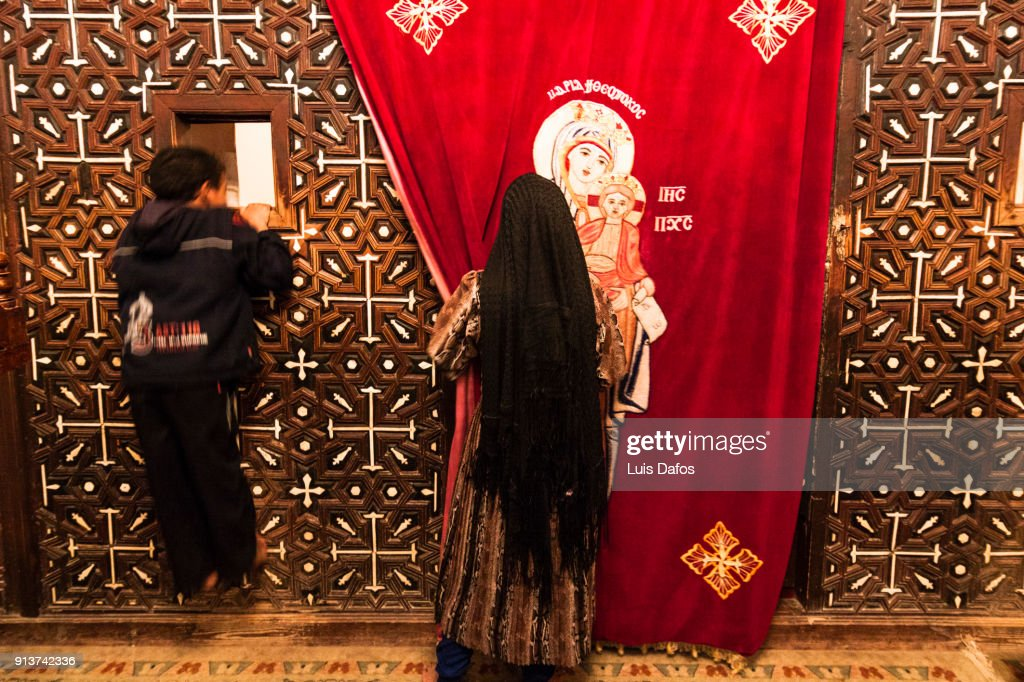 Deir al-Muharraq Coptic monastery : Stock Photo
