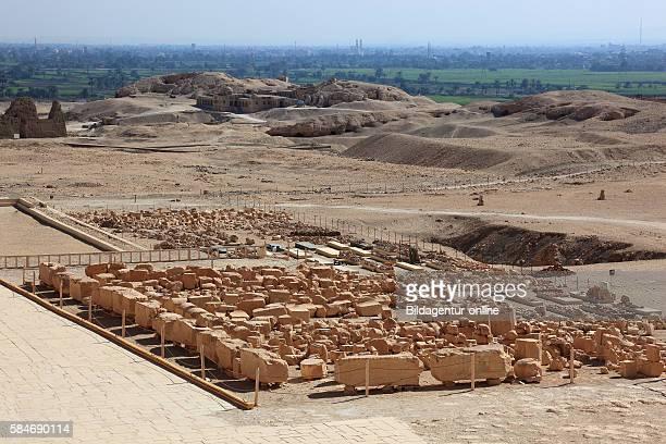 Deir elBahari or Dayr alBahri Part of the temple the mortuary temple of Hatshepsut