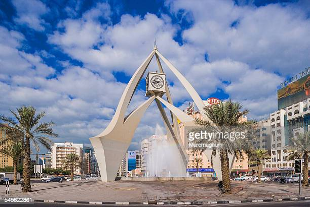 deira, the clock tower - clock tower stock pictures, royalty-free photos & images