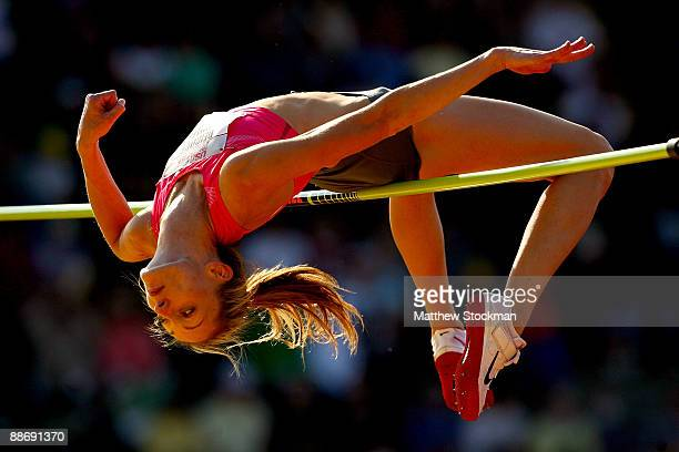 Deirde Mullen competes in the high jump final during the USA Outdoor Track Field Championships at Hayward Field on June 25 2009 in Eugene Oregon