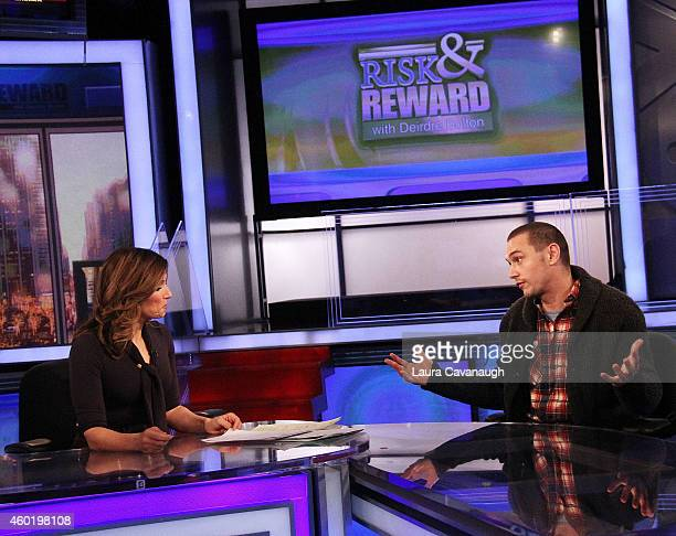 Deirdre Bolton and James Franco at The FOX Business Network at FOX Studios on December 9, 2014 in New York City.