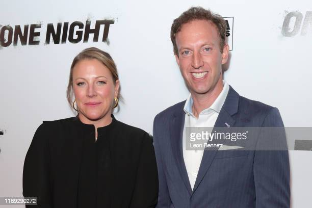Deirdre Fenton and Jamie Horowitz attend Premiere Of One Night Joshua Vs Ruiz at Writers Guild Theater on November 21 2019 in Beverly Hills California