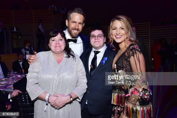 Deirdre Grimm Ryan Reynolds Gavin Grimm and Blake Lively attend the 2017 TIME 100 Gala at Jazz at Lincoln Center on April 25 2017 in New York City