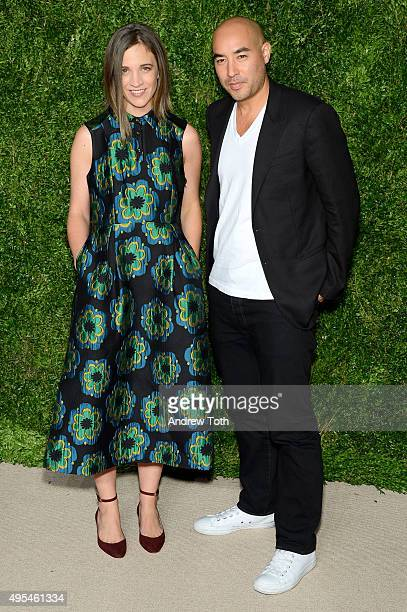 Deisgners Erin Beatty and Max Osterweis of Suno attend the 12th annual CFDA/Vogue Fashion Fund Awards at Spring Studios on November 2, 2015 in New...