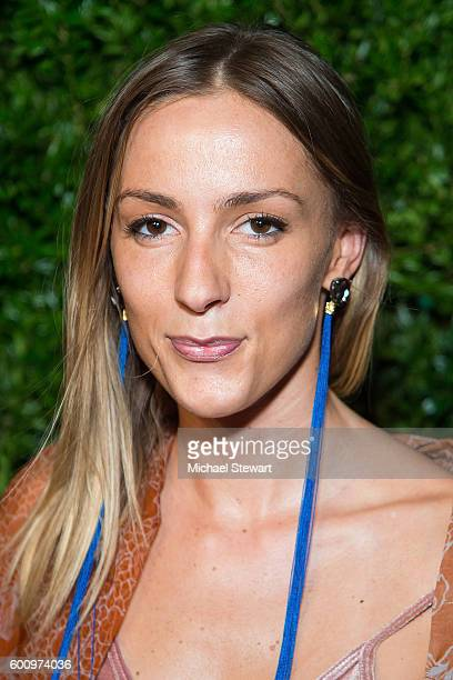 Deisnger Marina Dobreva attends the Saks Downtown x Vogue event at Saks Downtown on September 8 2016 in New York City