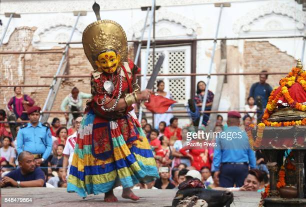 Deity performs religious dance during the 12 years Swetkali festival of Naradevi. The festival usually occurs once in 12 years by taking out parade...