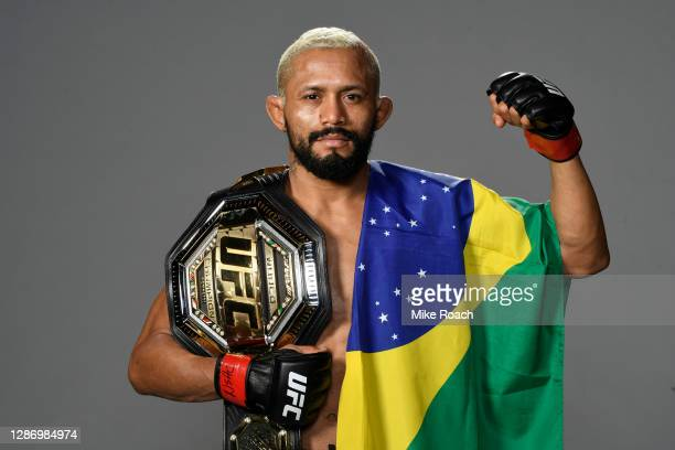 Deiveson Figueiredo of Brazil backstage during the UFC 255 event at UFC APEX on November 21, 2020 in Las Vegas, Nevada.