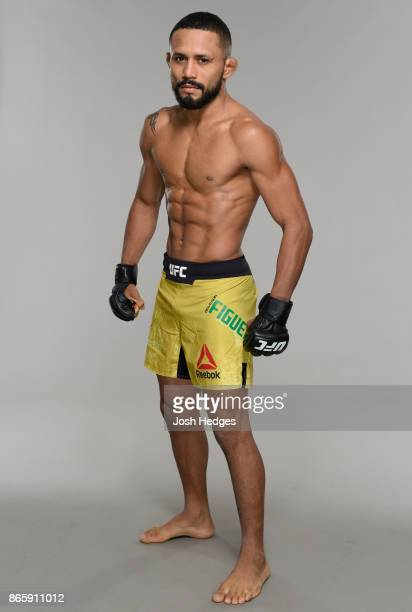 Deiveson Figueiredo of Brazil poses for a portrait during a UFC photo session on October 24 2017 in Sao Paulo Brazil