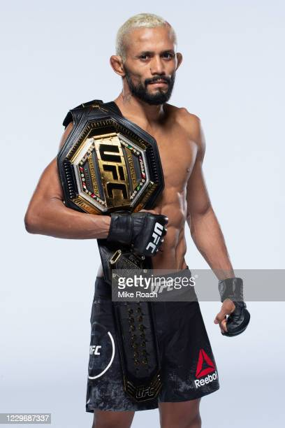 Deiveson Figueiredo poses for a portrait during a UFC photo session on November 19, 2020 in Las Vegas, Nevada.