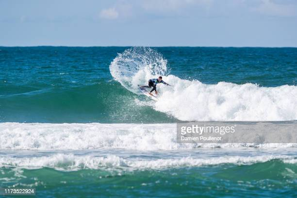 Deivid Silva of Brazil will surf in Round 2 of the 2019 Quiksilver Pro France after placing third in Heat 11 of Round 1 at Le Culs Nus on October 3...